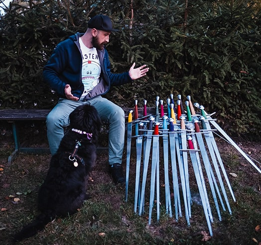 Swords with dog